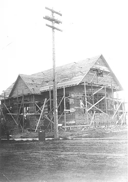 Gresham Historical Society_Library under construction - 1912